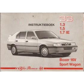 Alfa Romeo 33 Instructieboekje   Benzine Fabrikant 91 met gebruikssporen   Nederlands