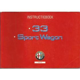 Alfa Romeo 33 Instructieboekje   Benzine Fabrikant 92 met gebruikssporen   Nederlands
