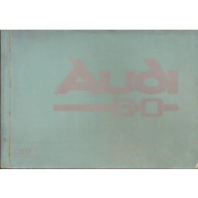 Audi 60 Instructieboekje   Benzine Fabrikant 68 met gebruikssporen   Nederlands/Frans/Italiaans