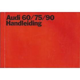 Audi 60/75/90 Instructieboekje   Benzine Fabrikant 69 met gebruikssporen   Nederlands