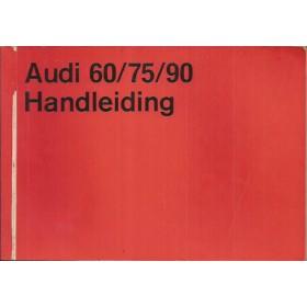Audi 60/75/90 Instructieboekje   Benzine Fabrikant 70 met gebruikssporen   Nederlands