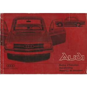 Audi 80 Instructieboekje   Benzine Fabrikant 66 met gebruikssporen   Nederlands/Frans/Italiaans
