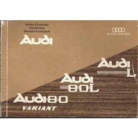 Audi L/80L/80Variant Instructieboekje   Benzine Fabrikant 67 met gebruikssporen   Nederlands/Frans/Italiaans