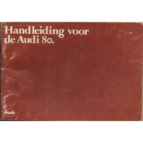 Audi 80 Instructieboekje   Benzine Fabrikant 79 met gebruikssporen kaft licht beschadigd  Nederlands