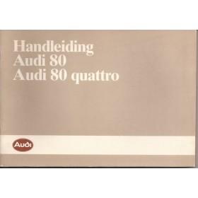 Audi 80/80 Quattro Instructieboekje   Benzine Fabrikant 86 ongebruikt   Nederlands