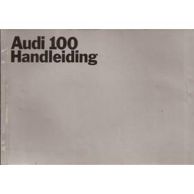 Audi 100 Instructieboekje   Benzine Fabrikant 69 met gebruikssporen   Nederlands