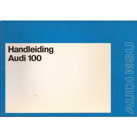Audi 100 Instructieboekje   Benzine Fabrikant 72 ongebruikt   Nederlands