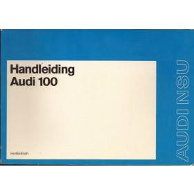 Audi 100 Instructieboekje   Benzine Fabrikant 73 ongebruikt   Nederlands