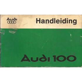 Audi 100 Instructieboekje   Benzine Fabrikant 76 met gebruikssporen folie kaft laat los  Nederlands
