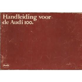 Audi 100 Instructieboekje   Benzine Fabrikant 78 met gebruikssporen editie augustus 1978  Nederlands