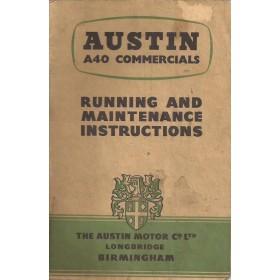 Austin A40 Instructieboekje  Mk1 Commercial Benzine Fabrikant 54 met gebruikssporen   Engels