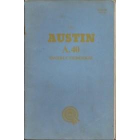 Austin A40 Instructieboekje  Mk2 Benzine Fabrikant 60 met gebruikssporen   Nederlands
