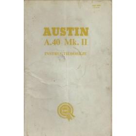 Austin A40 Instructieboekje  Mk2 Benzine Fabrikant 62 met gebruikssporen   Nederlands