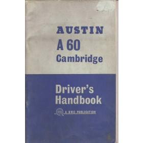Austin A60 Cambridge Instructieboekje   Benzine Fabrikant 66 met gebruikssporen   Engels