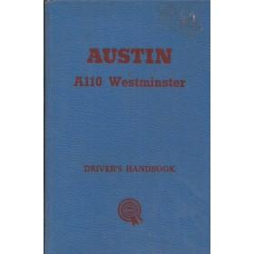 Austin A110 Westminster Instructieboekje  Mk1 Benzine Fabrikant 62 ongebruikt   Engels