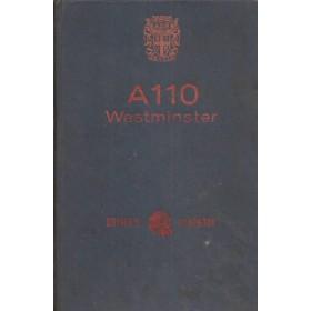 Austin A110 Westminster Instructieboekje  Mk2 Benzine Fabrikant 68 met gebruikssporen   Engels