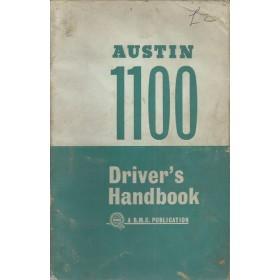Austin 1100 Instructieboekje   Benzine Fabrikant 65 met gebruikssporen   Engels