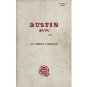 Austin Mini Instructieboekje  Mk1 Benzine Fabrikant 66 met gebruikssporen notities op achterkaft  Nederlands