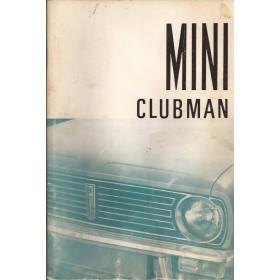 Austin Mini Instructieboekje  Clubman Benzine Fabrikant 70 met gebruikssporen lichte vochtschade  Nederlands