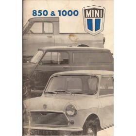 Austin Mini Instructieboekje  850/1100 Benzine Fabrikant 75 met gebruikssporen   Nederlands