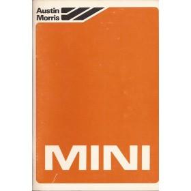 Austin Mini Instructieboekje  City/HL/Van Benzine Fabrikant 80 ongebruikt   Nederlands