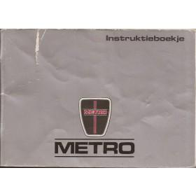 Austin Metro Instructieboekje   Benzine Fabrikant 88 met gebruikssporen scheurtje in kaft  Nederlands