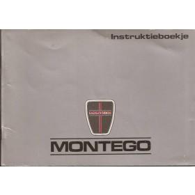 Austin Montego Instructieboekje   Benzine/Diesel Fabrikant 89 met gebruikssporen inclusief diesel inlegvel  Nederlands