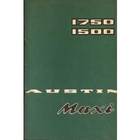 Austin Maxi Instructieboekje  1500/1750 Benzine Fabrikant 75 met gebruikssporen   Nederlands