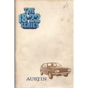 Austin Princess 18-22  Instructieboekje   Benzine Fabrikant 74 met gebruikssporen   Engels