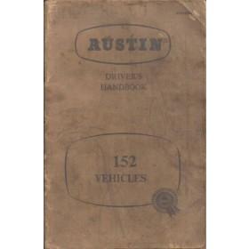 Austin 152 vehicles Instructieboekje   Benzine Fabrikant 58 met gebruikssporen   Engels