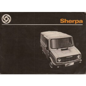 Austin Sherpa Instructieboekje   Benzine Fabrikant 1978 met gebruikssporen   Engels