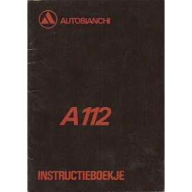 Autobianchi A112 Instructieboekje   Benzine Fabrikant 70 met gebruikssporen   Nederlands