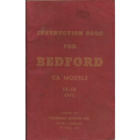 Bedford CA models (10-12 cwt) Instructieboekje   Benzine Fabrikant 55 met gebruikssporen   Engels