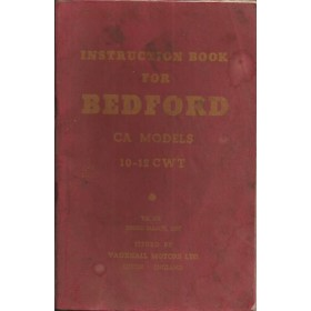 Bedford CA models (10-12 cwt) Instructieboekje   Benzine Fabrikant 57 met gebruikssporen   Engels