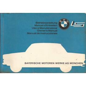 BMW 700 LS Instructieboekje   Benzine Fabrikant 63 met gebruikssporen vouw in achterkaft  Engels/Frans/Duits/Italiaans/Spaans