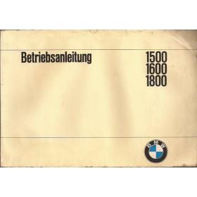 BMW 1500/1600/1800 Instructieboekje   Benzine Fabrikant 65 met gebruikssporen vochtschade  Duits