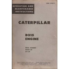 Caterpillar D315 Instructieboekje   Benzine Fabrikant 60 met gebruikssporen   Engels