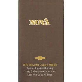 Chevrolet Nova Instructieboekje   Benzine Fabrikant 79 ongebruikt   Engels