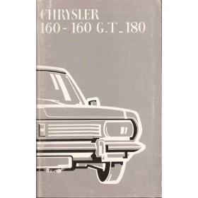 Chrysler 160/160GT/180 Instructieboekje   Benzine Fabrikant 71 ongebruikt   Nederlands