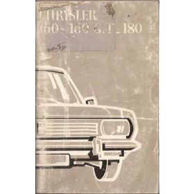 Chrysler 160/160GT/180 Instructieboekje   Benzine Fabrikant 71 met gebruikssporen   Nederlands