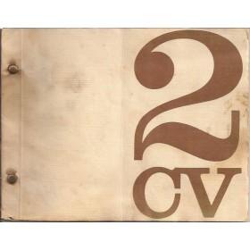 Citroen 2CV4 Instructieboekje   Benzine Fabrikant 68 met gebruikssporen vouw in kaft  Nederlands