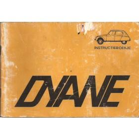 Citroen Dyane Instructieboekje   Benzine Fabrikant 72 met gebruikssporen   Nederlands