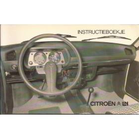 Citroen LN Instructieboekje Benzine Fabrikant 1976 met gebruikssporen Nederlands