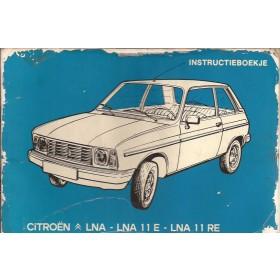 Citroen LNA Instructieboekje   Benzine Fabrikant 84 met gebruikssporen folie kaft laat los  Nederlands