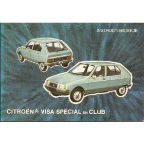 Citroen Visa Instructieboekje  Special/Club Benzine Fabrikant 79 ongebruikt   Nederlands