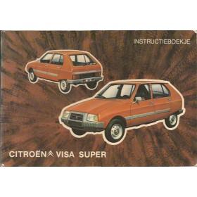 Citroen Visa Instructieboekje  Super Benzine Fabrikant 79 ongebruikt   Nederlands