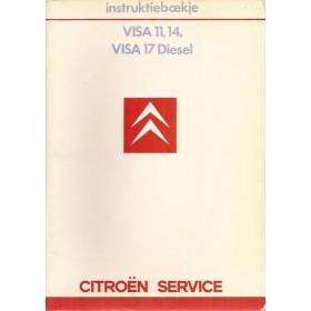 Citroen Visa Instructieboekje   Benzine/Diesel Fabrikant 85 ongebruikt   Nederlands