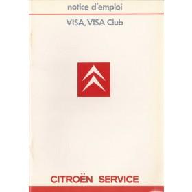 Citroen Visa Instructieboekje   Benzine Fabrikant 85 ongebruikt   Frans