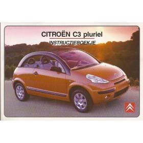 Citroen C3 Pluriel Instructieboekje   Benzine Fabrikant 03 ongebruikt in originele map  Nederlands