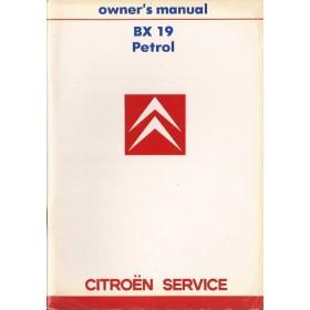 Citroen BX Instructieboekje  19 Benzine Fabrikant 86 ongebruikt   Engels